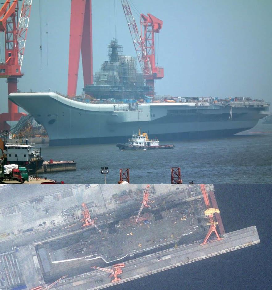 Chinese Aircraft-Carrier at Dalian Shipyard(ex. Varyag)