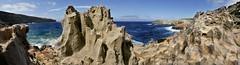 Menorca paisatges-226+227+228 panoramica (Fernando Laq) Tags: mar isla menorca mediterrneo baleares acantilados
