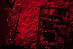 filling the empty space (abustaca) Tags: door blue light red house luz lines night cat dark square noche rojo puerta apartment flat library gato biblioteca frame miau lineas oscura escribir larser
