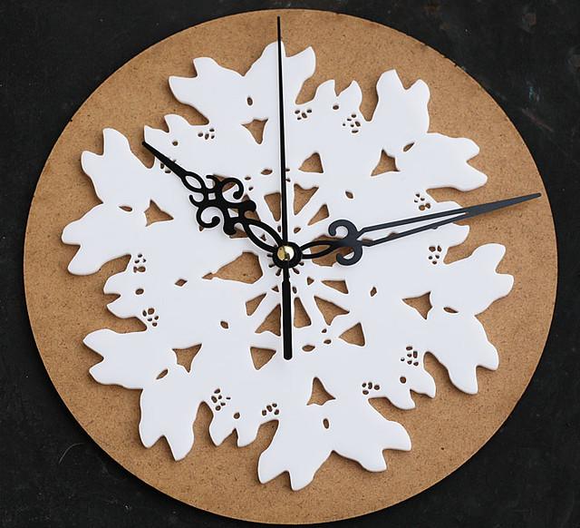bambi snowflake clock