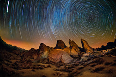 Alabama Hills at Night (Harold Davis) Tags: stars harolddavis sca startrails alabamahills scanov2010