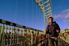 Andrew At The Bridge 2 (andy_sunley) Tags: charity bridge fuji walk s3 mersey runcorn widnes rivermersey silverjubileebridge fujis3pro andrewflather sowetoacademy