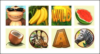 free Banana Monkey slot game symbols