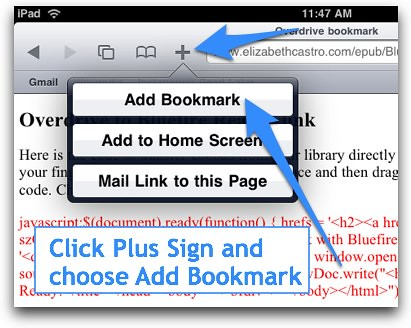 Choose Add Bookmark
