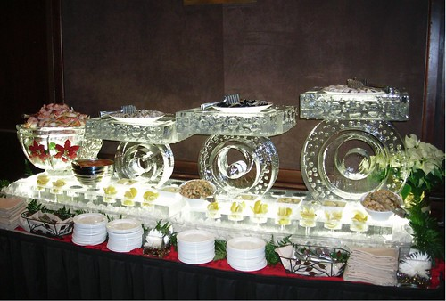 Intercontinental Platters ice sculpture