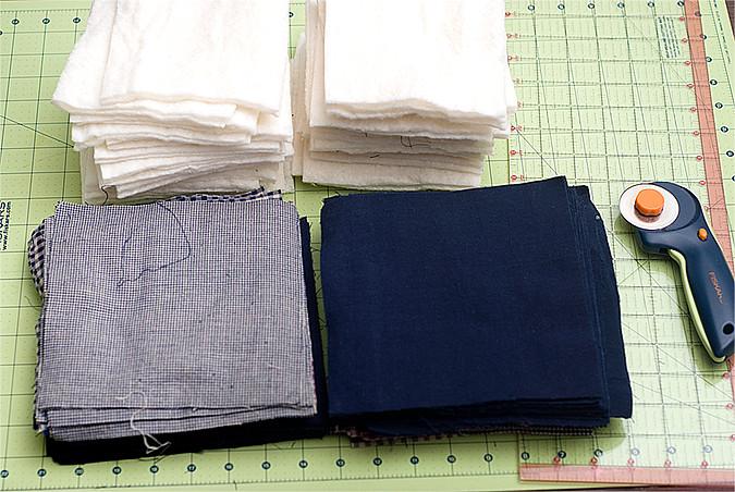 rag quilt start for blog