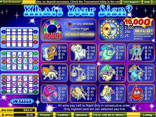 free Whats Your Sign slot mini symbol