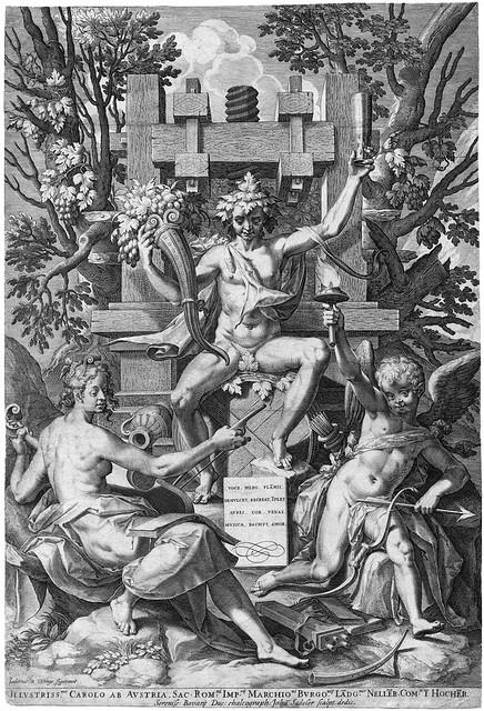 Sadeler, Johannes bacchus amor music