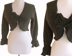 * View Invoice     *     * Relist  Felted Floral Crop Sweater (RebeccasArtCloset) Tags: flowers winter urban flower floral fashion felted dark diy sweater clothing women recycled handmade top unique ooak sewing gray s felt wear m jacket charcoal crop indie cropped chic etsy cardigan shrug apparel ecofriendly layering reconstructed ruffle bolero upcycled rebeccasartcloset