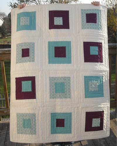 purple/aqua charity quilt