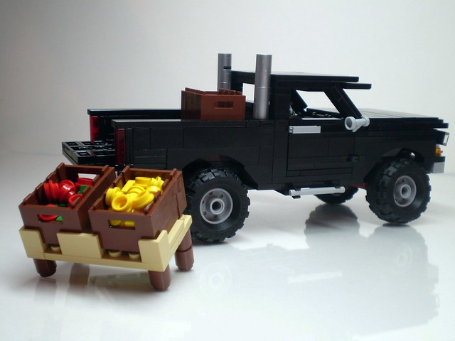 black ford monster fruit diesel market farm awesome pickup f150 beast farmer trick 1979 f350 f250