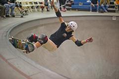 Friday November 19 20:59 (JulianBleecker) Tags: california orange sport unitedstates skateboarding competition skatepark northamerica sanpedro sk8 skateboarder 50mmf14 shutterpriority vansskatepark iso1000 centerweightedaverage leataylor nikond3s 398m secatf14 vansgirlscombiclassic 2007483