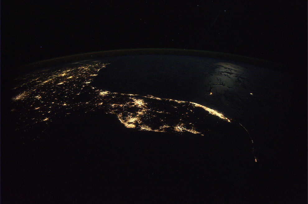 Incredible Photos from Space: Florida by night