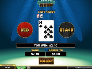 free Dolphin Reef slot gamble feature