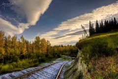 El ltimo tren (_Perseo_ (Renovatio)...) Tags: naturaleza david canon landscape tren eos la paisaje 1740 gonzlez ferrocarril ltimo perseo vas ibez 40d interpreta