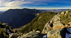 Crawford Notch from Webster (Jos Cazador) Tags: life new autumn winter wild england white mountain mountains bird fall grey jay mt hand loop wildlife south nh hampshire canadian jackson mount southern summit feed webster crawford notch the birdinhand in presidentials jacksonwebster