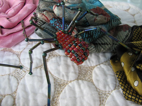 beaded spiders for tie roses
