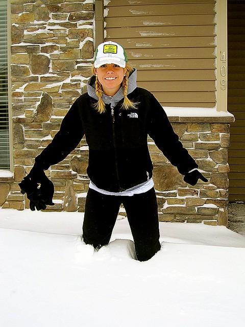 Knee deep snow sharpen