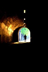 L'inconnu (charlesmdg) Tags: light shadow man paris cold walking warm walks lumière tunnel ombre unknown tunel marche stands homme marcher debout