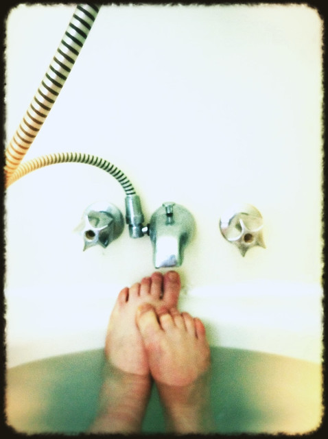 feet in the bath