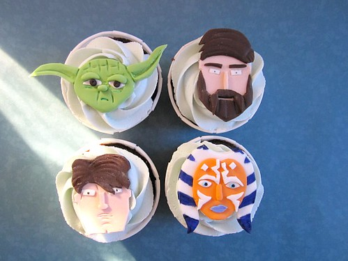 Clone Wars Birthday Cupcakes
