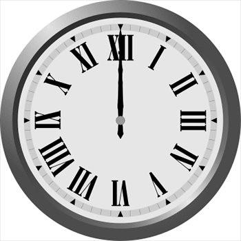 roman-numeral-wall-clock