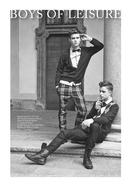 """Boys of Leisure"" image on FTape preview of Client Magazine"
