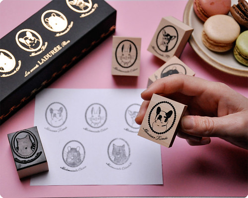 Ladurée rubber stamp set by Mark's