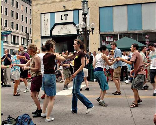 dancing in the street, Minneapolis (by: Ann Forsyth, courtesy of Design for Health)