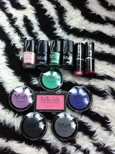 MUA Cosmetics, MUA Cosmetics UK, MUA eyeshadows, MUA lipsticks, MUA nail polishes