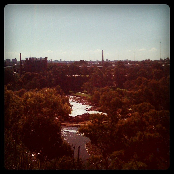 Looking down on Dights Falls and Collingwood/Fitzroy