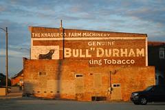 Bull Durham, Mendota Illinois (Cragin Spring) Tags: illinois il midwest unitedstates usa unitedstatesofamerica ghostsign sign ghost morning building bulldurham bull tobacco mendota mendotail mendotaillinois