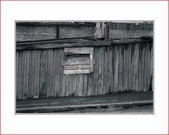 shed  |   wall (photoABRUZZO) Tags: blaydonmensshed gateshead tyneandwear monochrome blackandwhite splittone rustyandcrusty