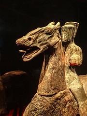 Closeup Cavalry figurine Yandai Mountain Yizheng Jiangsu China Western Han period 1st century BCE Wood (mharrsch) Tags: westernhan tomb burial funerary tombtreasures exhibit asianartmuseum sanfrancisco california mharrsch china cavalry horse equestrian wood