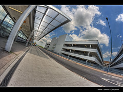 233/365 - HDR - Gatwick.II.@.1200x800 (Pawel Tomaszewicz) Tags: park camera new uk blue light shadow wallpaper england sky cloud fish eye colors beautiful car clouds port canon lens photography eos photo airport europe foto angle image photos air wide creative picture wideangle ps images x fisheye gb 1200 fotografia 800 hdr gatwick hdri aparat iphone pawel ipad architektura chmury niebo chmura 3xp photomatix greatphotographers 400d 1200x800 fotografowie polscy bkitne tomaszewicz