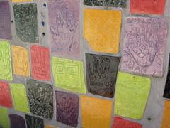 (Willowpoppy) Tags: family school summer color colour art hands ceramics handmade july tiles grandparents nana grandad 2010 bhg
