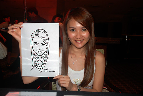 Caricature live sketching for Travel Partners Appreciation Dinner - World Fiesta - 9