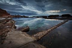 Wollongong Ladies' Baths (Xenedis) Tags: clouds illawarra pool reflection rocks seascape sky southflagstaffpoint water wollongong newsouthwales nsw australia southcoast