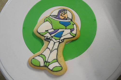 Buzz Lightyear iced sugar cookies