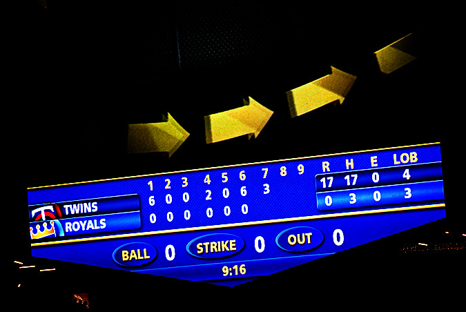 royals game abysmal scoreboard