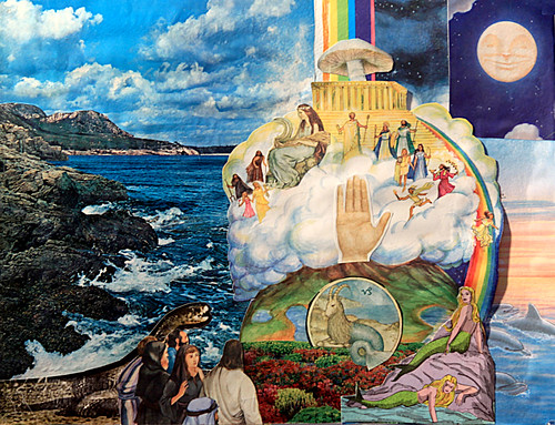 LARRY CARLSON, PATH OVER THE WATERS OF THE SEA, collage on paper, 14x11in. 2011.