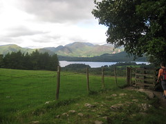 First glimpse of Derwent Water from the east