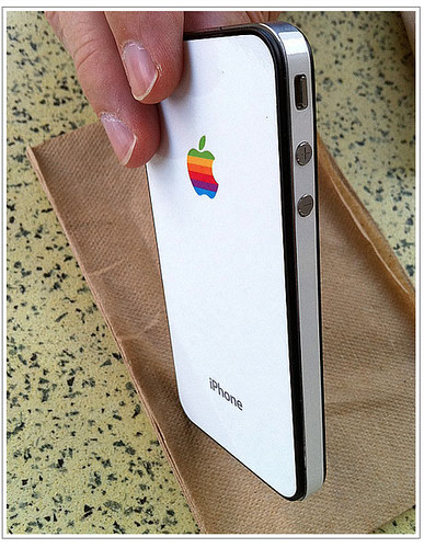 Custom White iPhone 4 GelaSkin