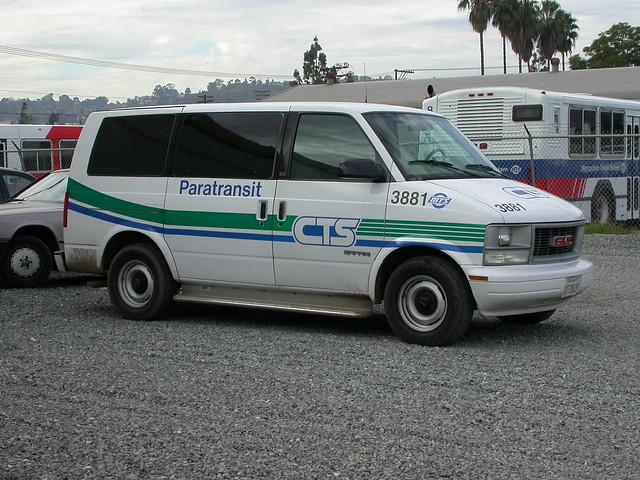bus ada sandiego metro dialaride safari transit van minivan gmc mts sandiegotransit paratransit metropolitantransitsystem