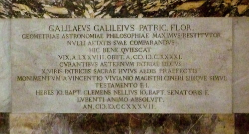 Galileo's tombstone