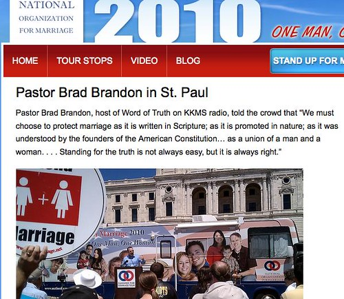 NOMTourTracker.com: Brad Brandon on NOM site