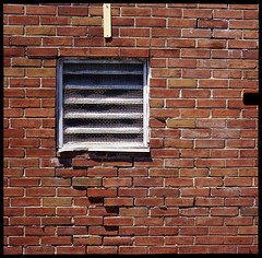 Issues (Voxphoto) Tags: brick tlr vent annarbor 127 cracks sq portra400 yashica44 46mm respooled