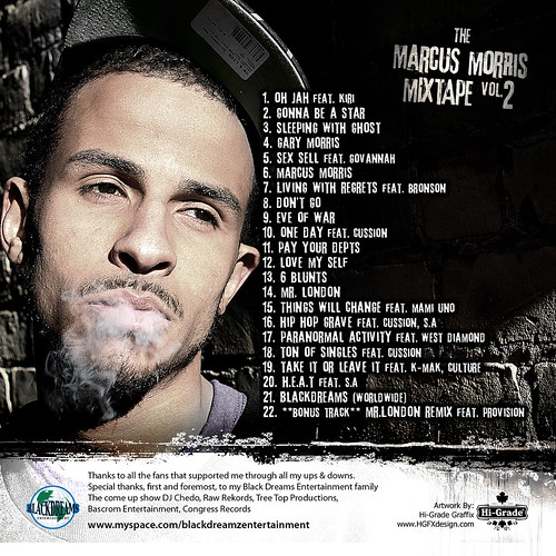 The Marcus Morris Mixtape Vol. 2 Back Cover