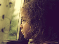 Rainy Day Blues (Rebecca812) Tags: portrait cute window water girl beautiful rain kid child sad curtain daughter naturallight screen inside anticipation lookingout canon5dmarkii bestportraitsaoi familygetty2010 rebecca812