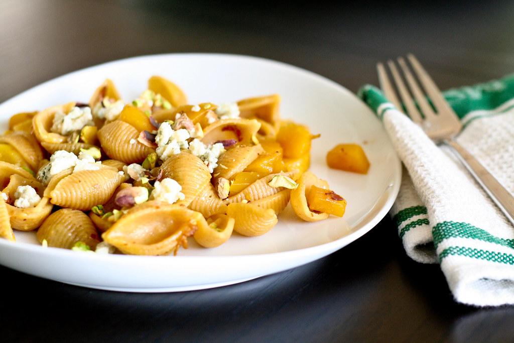 Pancetta, Golden Beet & Gorgonzola Pasta